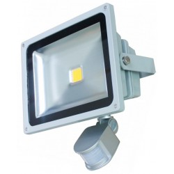 50W LED Bouwlamp warm wit met sensor IP65