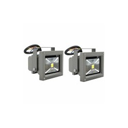 10W LED bouwlamp IP65 warm wit 2 stuks