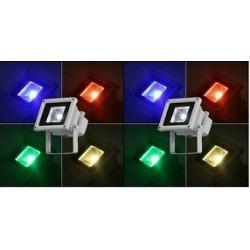 2xRGB LED Bouwlamp 10w (kleur)