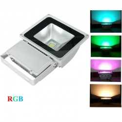 100W RGB LED (RF remote 40 meter) Bouwlamp IP65 (kleur)