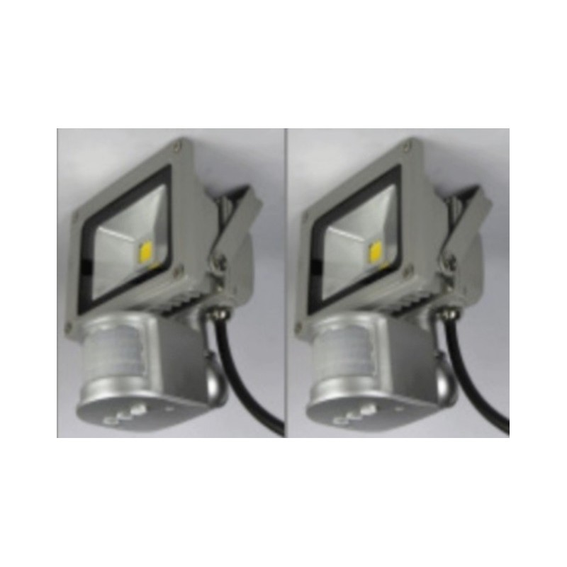 2x10w | Led | warm white | Bouwlamp | bewegings-sensor