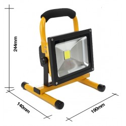 20W LED Bouwlamp IP65 Warm...